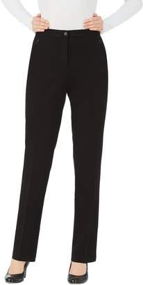 TanJay Tan Jay Plus Comfort Waist Straight Leg Pants with Zip Pockets