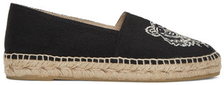 Kenzo Black Canvas Tiger Espadrilles $180 thestylecure.com