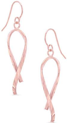 Zales Breast Cancer Awareness Ribbon Drop Earrings in 14K Rose Gold