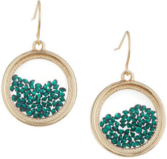 Lydell NYC Emerald Round Shaker Earrings