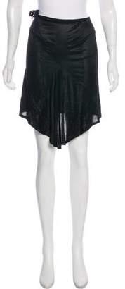 Ann Demeulemeester Drape-Accented Knee-Length Skirt