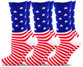 Americana TeeHee Socks TeeHee Novelty Fashion Crew Socks 3 Pair Pack (9-11, )