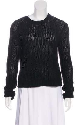 Acne Studios Rib Knit Long Sleeve Sweater