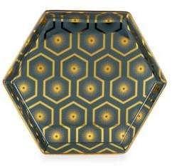 Rosanna Jazz Age Hexagon Ceramic Platter