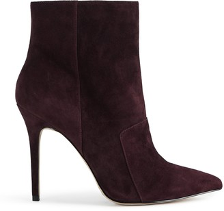 Reiss MIRNA POINTED ANKLE BOOTS Berry