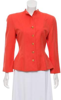 Christian Dior Quarter Sleeve Button-Accented Jacket