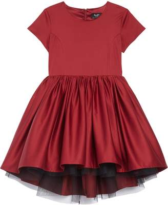 Bardot Junior Evita High/Low Satin & Tulle Dress