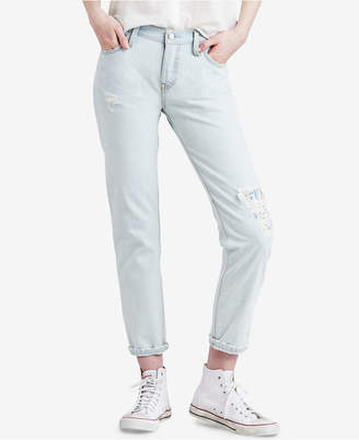Levi's 501 Cotton Ripped Tapered Jeans