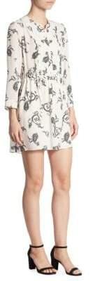 A.L.C. Hazel Paisley-Print Silk Dress