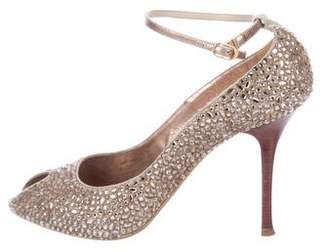 Le Silla Embellished Peep-Toe Pumps