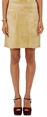 Derek Lam Women's Sue A-Line Miniskirt-TAN $2,250 thestylecure.com