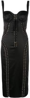 Dolce & Gabbana lace-up bustier dress