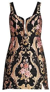 For Love & Lemons For Love& Lemons For Love& Lemons Women's Tapestry Brocade Mini A-Line Dress
