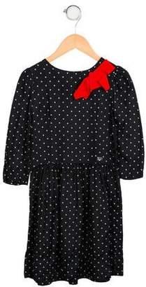 Rykiel Enfant Girls' Embellished Polka Dot Dress