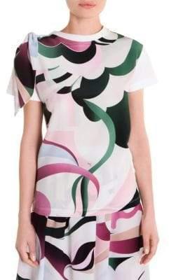 Emilio Pucci Shoulder-Tie Printed Top