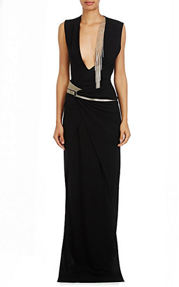Lanvin Women's Embellished Silk Jersey Wrap Gown $2,890 thestylecure.com