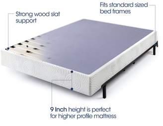 "Zinus 9"" High Profile Metal Smart Box Spring with Wood Slats, Queen"
