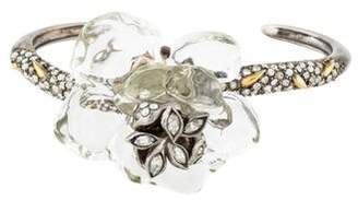 Alexis Bittar Lucite & Crystal Flower Bracelet