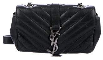 Saint Laurent Quilted Leather Small Monogram Crossbody Bag