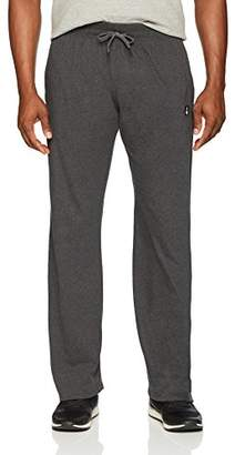 Flying Ace Men's Open Bottom Jersey Pant with Logo Embroidery Charcoal Heather