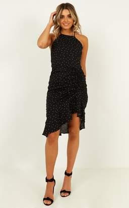 Showpo Paradise Cove dress in black spot - 8 (S) Party Dresses