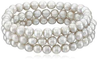 Bella Pearl Set of 3 Pearl Stretch Bracelet