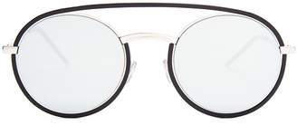 DIOR HOMME SUNGLASSES Synthesis 01 round-frame mirrored sunglasses