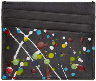Maison Margiela Black Paint Splatter Card Holder