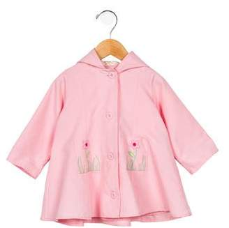 Florence Eiseman Girls' Embroidered Hooded Jacket