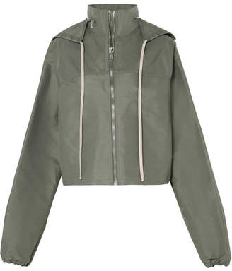 Rick Owens Cropped Hooded Shell Jacket - Army green