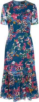Saloni Lorna Printed Dress $575 thestylecure.com