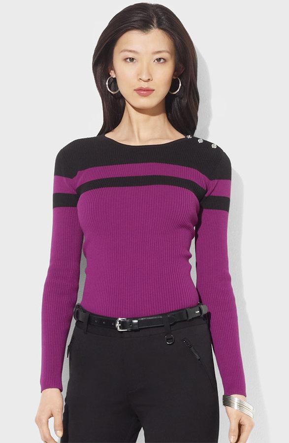 Lauren Ralph Lauren Colorblock Sweater