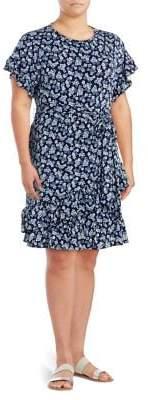 MICHAEL Michael Kors Floral Ruffled Dress