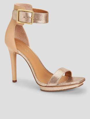 Calvin Klein vable metallic leather sandal