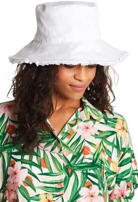 August Hat Frayed Trim Bucket Hat