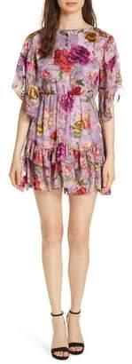 Alice + Olivia Katrina Ruffled Floral Dress