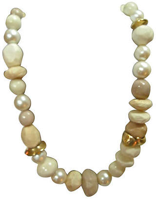 One Kings Lane Vintage Givenchy Faux-Stone & Pearl Necklace