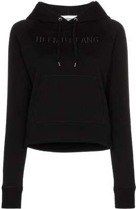 Helmut Lang logo embroidered hoodie