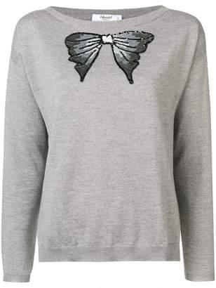 Blugirl sequinned bow sweater
