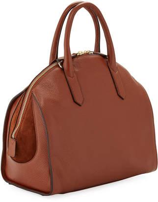Roberto Cavalli Stampa Dollaro Leather Dome Tote Bag