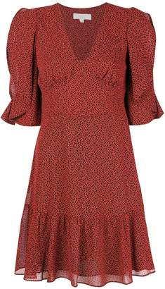 MICHAEL Michael Kors flared V-neck dress