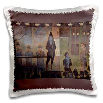 3dRose Circus Sideshow, 1887 by Georges Seurat Man Playing a Trombone - Pillow Case, 16 by 16-inch