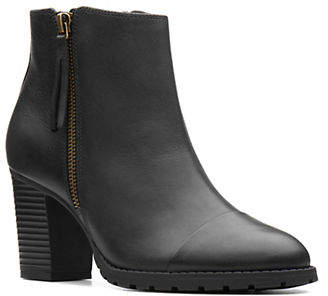 Clarks Verona Leather Booties