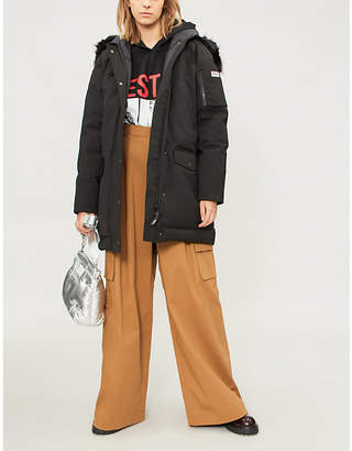 Kenzo Faux-fur wool-blend parka coat