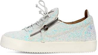 Giuseppe Zanotti Design 20mm Glittered Zip Up Sneakers