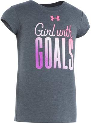 Under Armour Girls' Pre-School UA Girls With Goals Short Sleeve