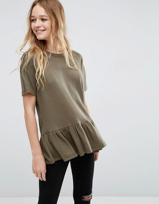 ASOS T-Shirt With Ruffle Hem $23 thestylecure.com