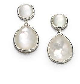 Ippolita Women's Wonderland Mother-Of-Pearl, Clear Quartz& Sterling Silver Snowman Doublet Drop Earrings