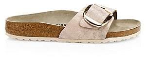 Birkenstock Women's Madrid Big Buckle Metallic Leather Slide Sandals