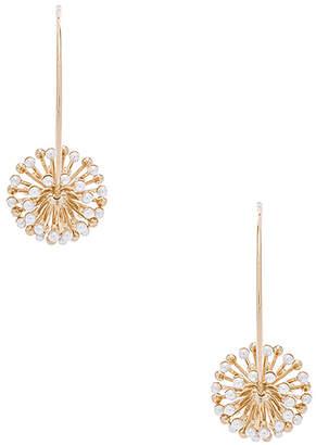 Anton Heunis Pearl Sputnik Flower Hoops